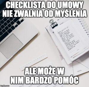 checklista do umowy
