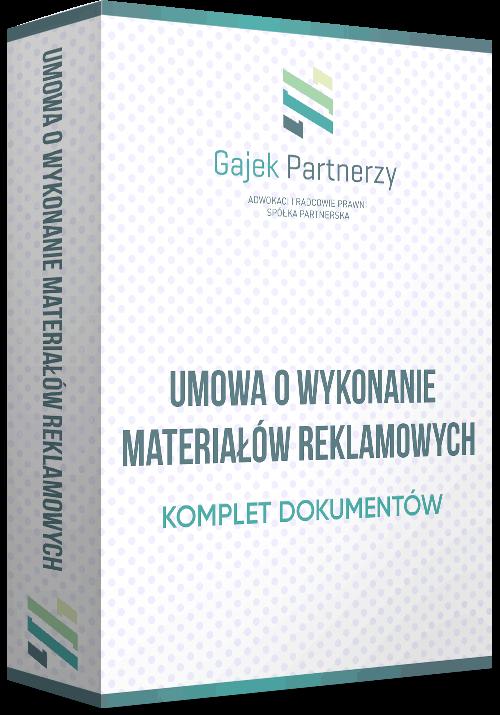 umowa o wykonanie materiałów reklamowych